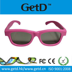 Recycle use pink 3d glasses for cinema
