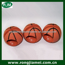 New basketball shape silicone loud speaker for iphone