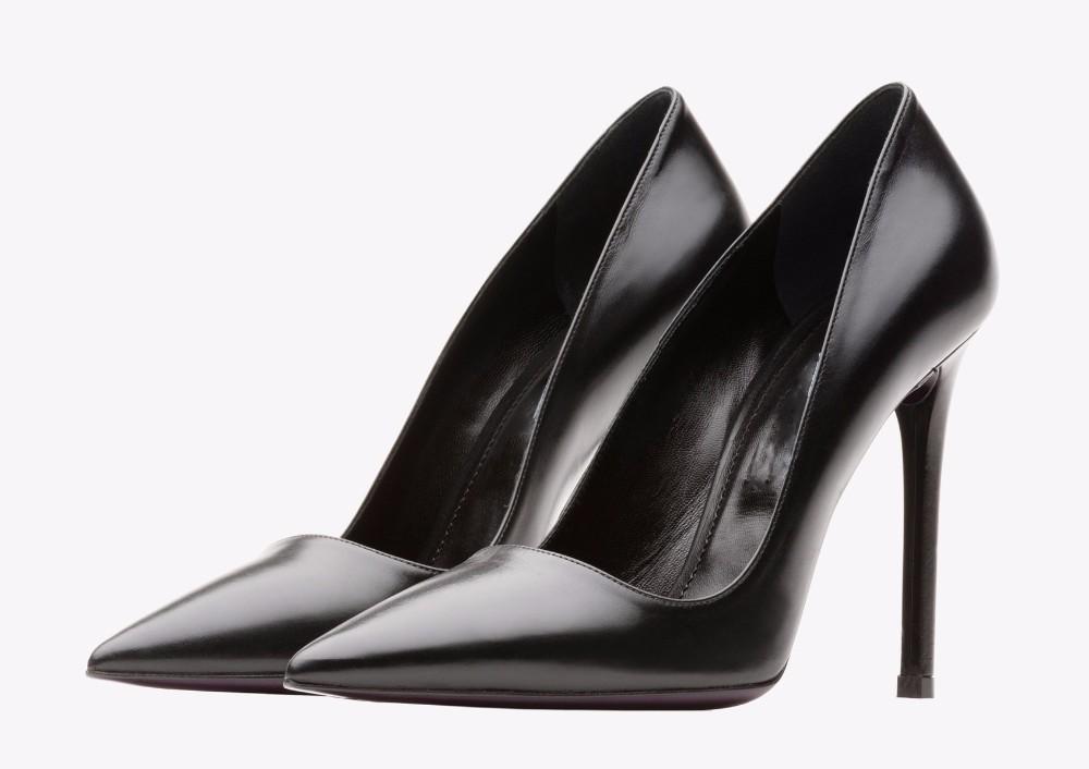 aad865261de5c 2016 luxe mode noir en cuir femmes crayon haute talon chaussures pour femmes