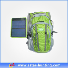 fashional solar cooler backpack with 5.6V, 2.2W sunpower panel
