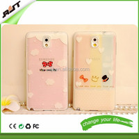 Cute cartoon bow high quality TPU case for Samsung galaxy note 3