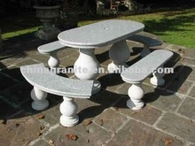 hot selling Patio hand carved stone garden bench
