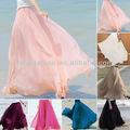 nueva baratos maxi largo de bohemia restaurar las mujeres brillando gasa falda larga