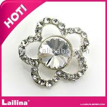 New Fashion Flower shape Rhinestone Button