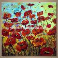 venta al por mayor de arte abstracto de adormidera de la pintura moderna para decoración