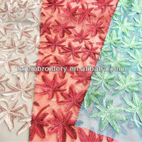 new magnificent dress fabric with metalic embroidery