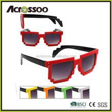 Fun Party 8-bit Retro Plastic Pixel Sunglasses/wholesale promo plastic cheap pixel sunglasses