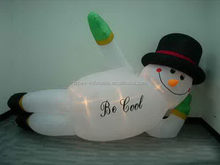 Newest lovely inflatable christmas sleeping snowman