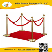 Red carpet velvet rope post,crowd control barrier rope,Rope Barrier Velvet 1.5m