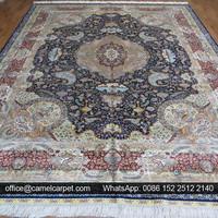 9x12 feet Dark Blue Oriental Carpet Arabic Majlis