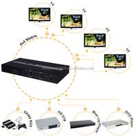HDMI 4x4 Video Matrix with internal extenders
