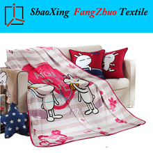 cute design panel print famous brand polar fleece blanket