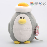 2015 Cute custom penguin plush soft toy/stuffed mother and child penguin