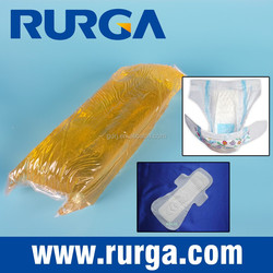 Thermoplastic rubber and synthetic resin based hot melt adhesive for baby diaper