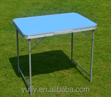MDF & Alum. steel Folding Picnic table and seat sets Camping table small table