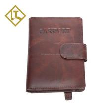custom private design leather passport cover bag holder rfid