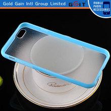Beautiful Scrub and Transparent TPU+PC Case for iPhone 6, Good Price Transparent TPU+PC Case for iPhone 6 Back Cover