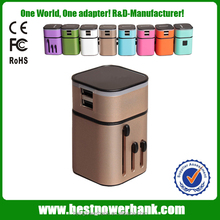 HC-302 2015 International Travel Universal Adapter ElectriK/US/EU/AU to EU European Socket Convcal Plug For Uerte