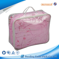 Clear Pvc Quilt Bag Of Transparent Quilt Bag With Zipper And Handle