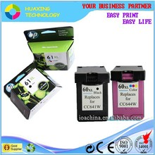 remanufactured refill ink cartridge for hp 60XL Large capacity printer ink cartridges
