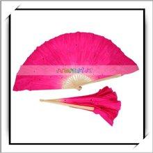 HOT! Folk Art HandeMade Silk Chinese Belly Dance Fan Veils -11001290