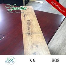 3.0mm dry back pvc floor tile handscraped surface with fiber glass