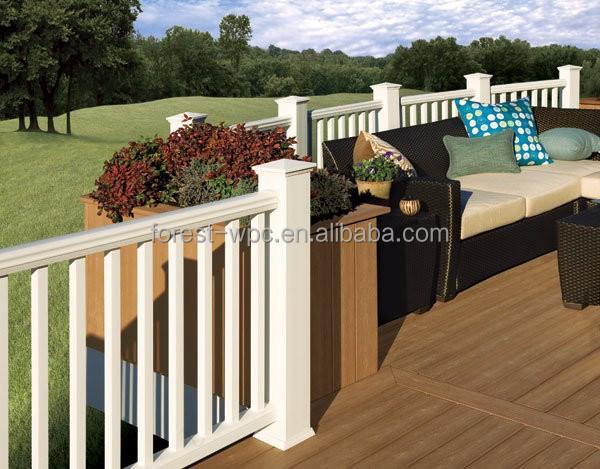 Jardin ext rieur balustre en bois en plastique baluster for Balustres bois exterieur