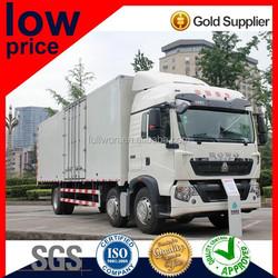 Diesel Howo T5G Cargo van 310HP 6X2 on sale