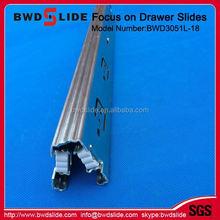 full extension drawer slides over travel BWD3051L-18
