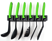 New style high quality 6pcs colorful TPR handle nylon kitchen cooking tools
