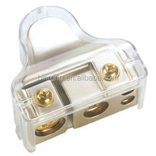Gold Plated Positive or Negative Battery Terminal Clamp With Clear Cover 1/0,4,8,8 AWG