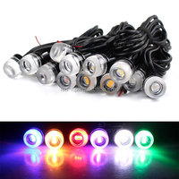 2015 Newest car motorcyle blue green yellow white red concave 6W eagle eye led light car