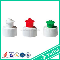CP2015-5 Yuyao manufacturer specialized produced plastic water bottle cap 24/410 plastic pull up cap