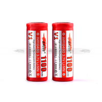 18490 battery 3.7V 1100mAh with flat top lava tube battery Efest imr 18490 battery