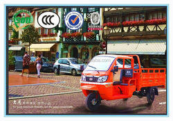 China BeiYi DaYang 250cc/300cc Chinese New Cheap Three Wheel cargo Motorcycle with semi-open cabin