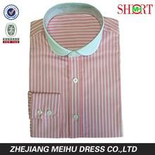 Latest mini club collar design Mens casual dress shirts long sleeve shirts