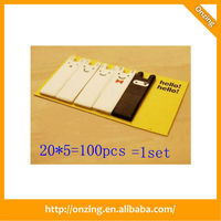 Promotional high quality leather pen novelty sticky notes