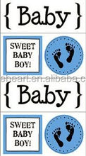 Hot Sale Coustom Baby Boy Quick Cards Stickers 3d wall sticker