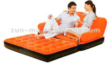 5 in 1 VELVET INFLATABLE SOFA CUM BED LARGE PULL OUT SOFA