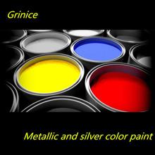 Efecto brillante metálico estado líquido potencia buena paliza 1k pintura metalizada auto coche de plata