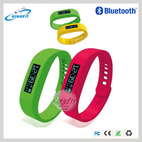 Smart Sport led bluetooth fitness rubber jelly ion sports bracelet wrist watch with Pedometer Sleep Monitoring