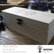 HONGDAO simple wooden box,craft supplies wholesale
