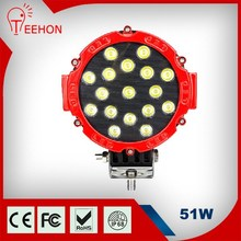 Factory Price For 12 Volt led work lighting 51W retractable led work light For jeep truck, machine