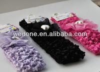 2013 Hot sale cotton top baby crochet headbands