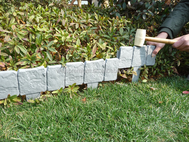 Utiles et populaire en plastique pelouse jardin bordure d for Bordure plastique jardin