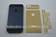 Champagne Gold Skin Stickers Matte Gold Skin for Iphone5S Three Components DIY Decorated Back Skin