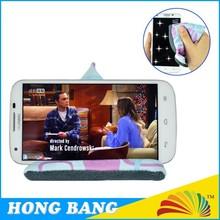 HBJ003 Cute design portable microfiber cell phone desk stand
