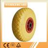 hand trolley PU foam wheel with asymmetrical hub 3.00-4