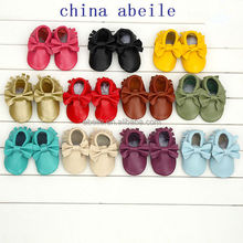 Multi Color fringe infant shoes manufacturer made your cute paws shoe 100% handmade baby toddler moccasins 2014