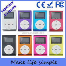 Promotion Gift Mini Metal Clip Mp3 Player With 1.1inch LED Screen